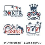casino poker gamble game vector ... | Shutterstock .eps vector #1106555930