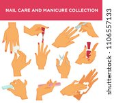 manicure nail design or had... | Shutterstock .eps vector #1106557133