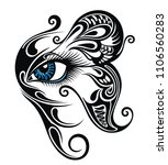 eye make up with butterfly.... | Shutterstock .eps vector #1106560283
