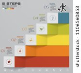 abstract 5 steps infographics... | Shutterstock .eps vector #1106560853