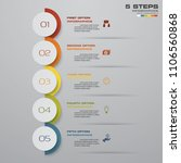 5 steps timeline arrow...   Shutterstock .eps vector #1106560868