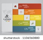 infographic template with 5...   Shutterstock .eps vector #1106560880