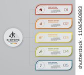 infographic template with 5... | Shutterstock .eps vector #1106560883