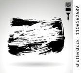 black brush stroke and texture. ... | Shutterstock .eps vector #1106562689
