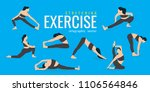 woman stretching exercises.... | Shutterstock .eps vector #1106564846