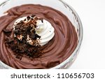 dark chocolate mousse with... | Shutterstock . vector #110656703