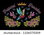 hummingbirds butterflies crown... | Shutterstock .eps vector #1106570309