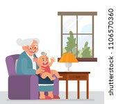 vector illustration grandmother ... | Shutterstock .eps vector #1106570360