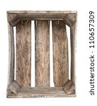 Rustic Old Empty Wooden Crate