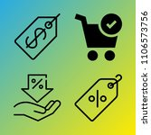 shopping vector icon set...