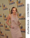 LOS ANGELES, CA - MAY 31, 2009: Miley Cyrus at the 2009 MTV Movie Awards at Universal Studios, Hollywood. - stock photo