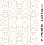 pattern with crossing lines and ... | Shutterstock .eps vector #1106580704