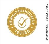 dermatologically tested icon | Shutterstock .eps vector #1106582459