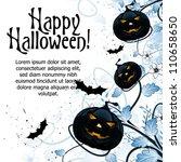 grungy abstract halloween...   Shutterstock .eps vector #110658650