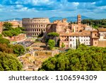 aerial scenic view of colosseum ... | Shutterstock . vector #1106594309