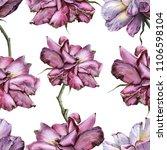 background of roses. seamless... | Shutterstock . vector #1106598104