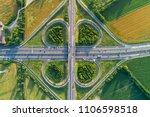 cloverleaf interchange seen...   Shutterstock . vector #1106598518