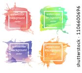 collection of colored... | Shutterstock .eps vector #1106600696