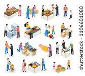 sharing economy isometric icons ... | Shutterstock .eps vector #1106601080