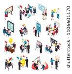 business coaching isometric... | Shutterstock .eps vector #1106601170