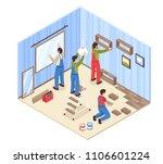 room repair isometric...   Shutterstock .eps vector #1106601224