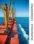 cargo ship sailing in high sea   Shutterstock . vector #1106606963