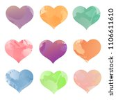 collection of colorful... | Shutterstock .eps vector #1106611610