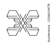 sign of the letter x | Shutterstock . vector #1106614478