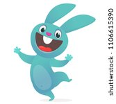 cartoon cute rabbit. woodland... | Shutterstock .eps vector #1106615390