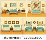 hotel room interior. bedrooms... | Shutterstock .eps vector #1106615900