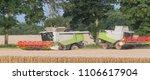 combine harvesters  ... | Shutterstock . vector #1106617904