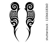 tribal pattern tattoo vector...   Shutterstock .eps vector #1106618360