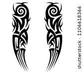 tribal art tattoo design... | Shutterstock .eps vector #1106618366