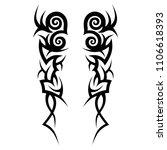tattoos art ideas sleeve... | Shutterstock .eps vector #1106618393