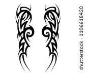 tribal art tattoos swirl sleeve ...   Shutterstock .eps vector #1106618420