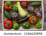 concept  vegetarian food ... | Shutterstock . vector #1106620898
