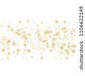 gold flying stars confetti... | Shutterstock .eps vector #1106622149