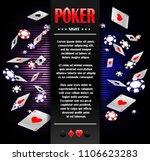 casino gambling poker... | Shutterstock .eps vector #1106623283