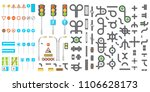 mega collection of road...   Shutterstock .eps vector #1106628173