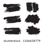 collection of black brush... | Shutterstock .eps vector #1106628779