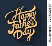 happy fathers day greeting.... | Shutterstock .eps vector #1106632619