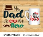 happy fathers day greeting.... | Shutterstock .eps vector #1106633369