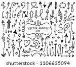 big collection of vector hand... | Shutterstock .eps vector #1106635094