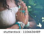 Close Up Of Yoga Woman Hands I...