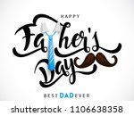 happy fathers day greeting.... | Shutterstock .eps vector #1106638358