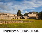majestic kabah ruins  mexico.... | Shutterstock . vector #1106641538