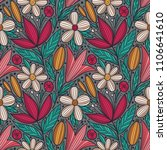 decorative floral seamless... | Shutterstock .eps vector #1106641610