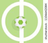 ball for soccer or football on...   Shutterstock .eps vector #1106642084