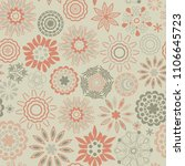 ornate floral seamless texture  ... | Shutterstock .eps vector #1106645723