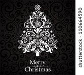 christmas tree. vector... | Shutterstock .eps vector #110664590